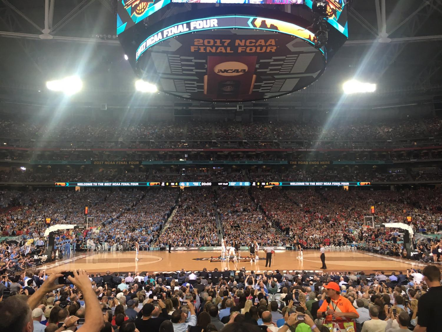 I attended the 2017 NCAA championship game between North Carolina and Gonzaga. The atmosphere was something I have never felt at a sport's venue; it was ecstatic.