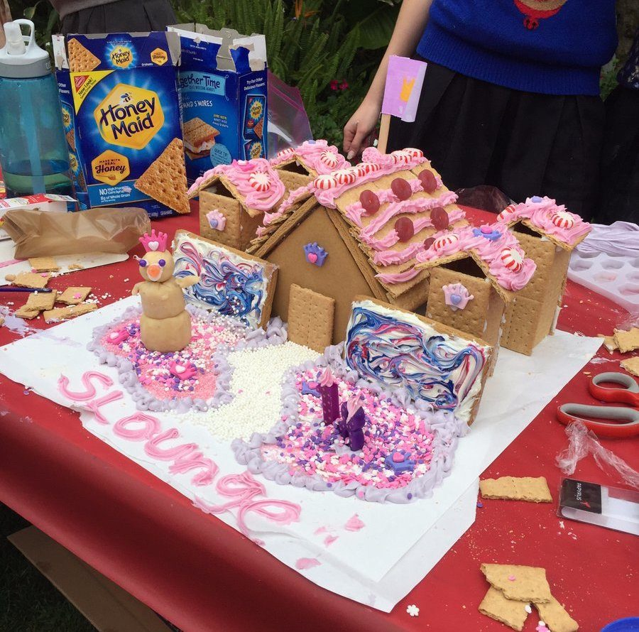 The seniors' gingerbread house, which was based off of the senior lounge, also known as the
