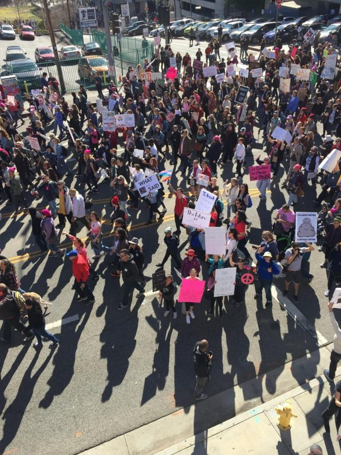 Aerial+photo+of+the+Women%27s+March.+This+year%27s+theme+for+the+Women%27s+March+was+to+encourage+women+to+vote.+