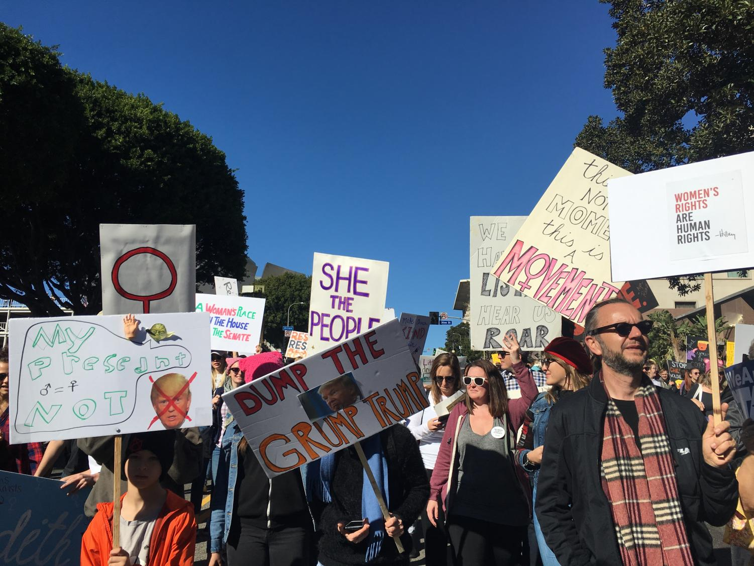 The+Women%27s+March+in+Los+Angeles+was+held+on+Jan.+20%2C+2018+at+Pershing+Square.+There+were+marches+all+over+the+country.+