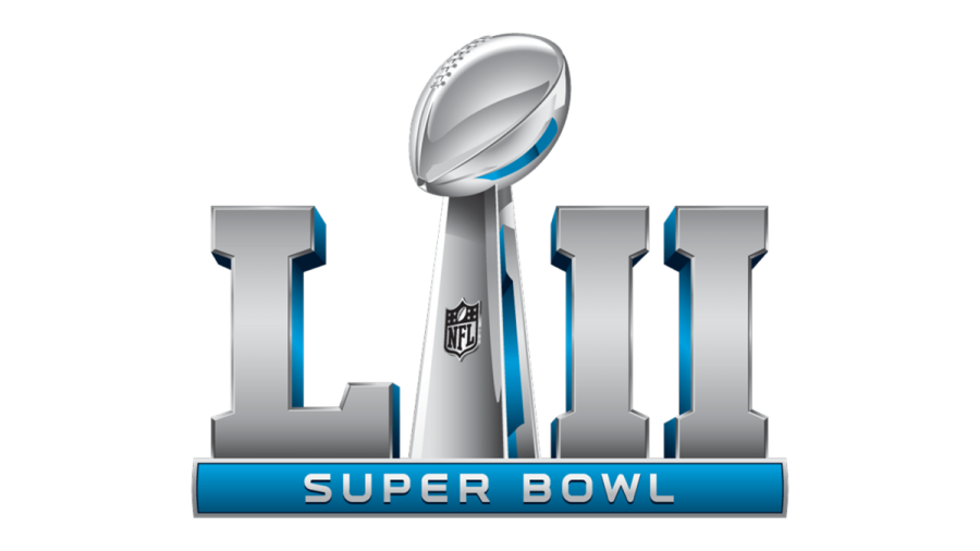 The Super Bowl LII logo. The game will take place on Sunday, Feb. 4.  Image source NFL.