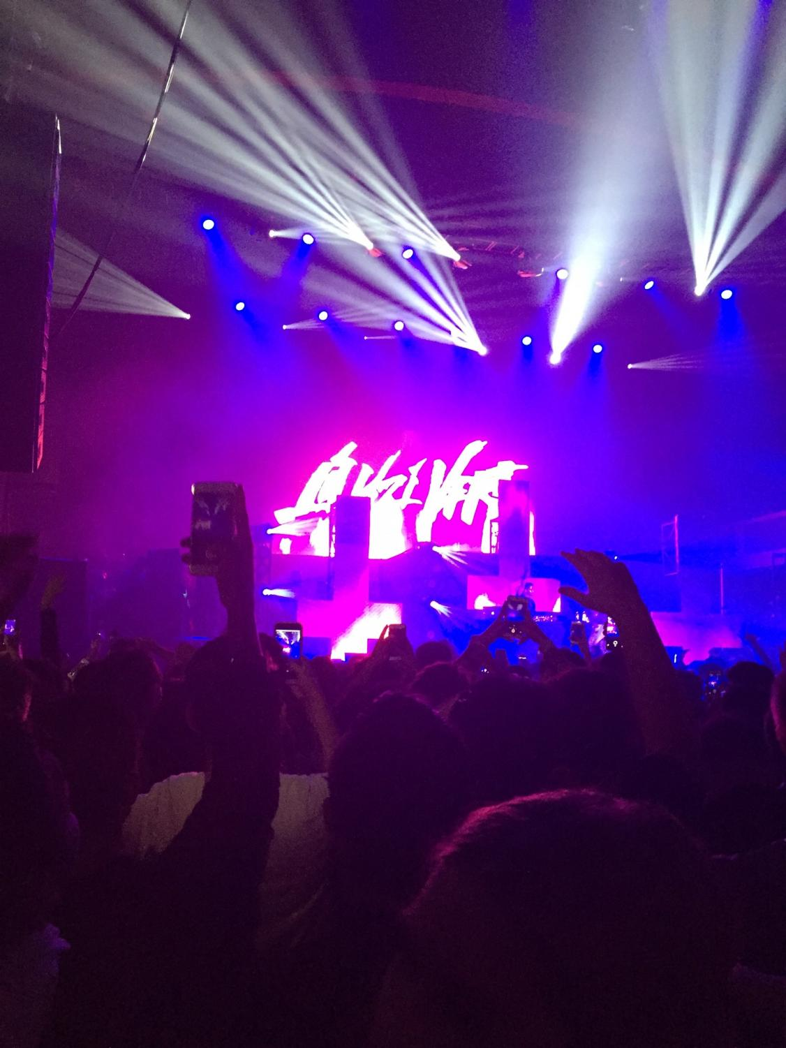 Lil Uzi Vert concert on Friday Feb. 2, at the Shrine Expo Hall near USC.  Many people were recording and taking pictures on their phones.