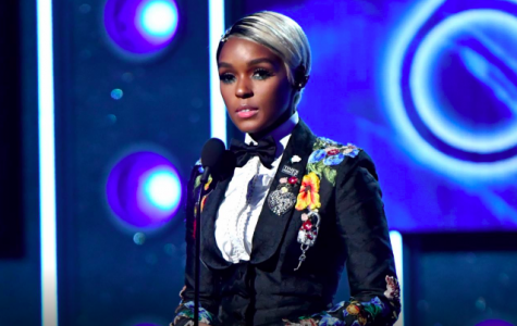 Singer Janelle Monáe speaks during the 2018 Grammys. Monáe was not nominated for any awards, but spoke about the #MeToo and Time's Up movement in a speech  followed by Kesha's performance of
