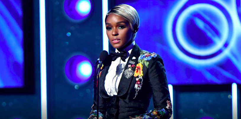 Singer+Janelle+Mon%C3%A1e+speaks+during+the+2018+Grammys.+Mon%C3%A1e+was+not+nominated+for+any+awards%2C+but+spoke+about+the+%23MeToo+and+Time%27s+Up+movement+in+a+speech++followed+by+Kesha%27s+performance+of+%22Praying.%22+Image+source+%3Ca+href%3D%22https%3A%2F%2Fwww.grammy.com%2F%22%3EGrammys%3C%2Fa%3E.+
