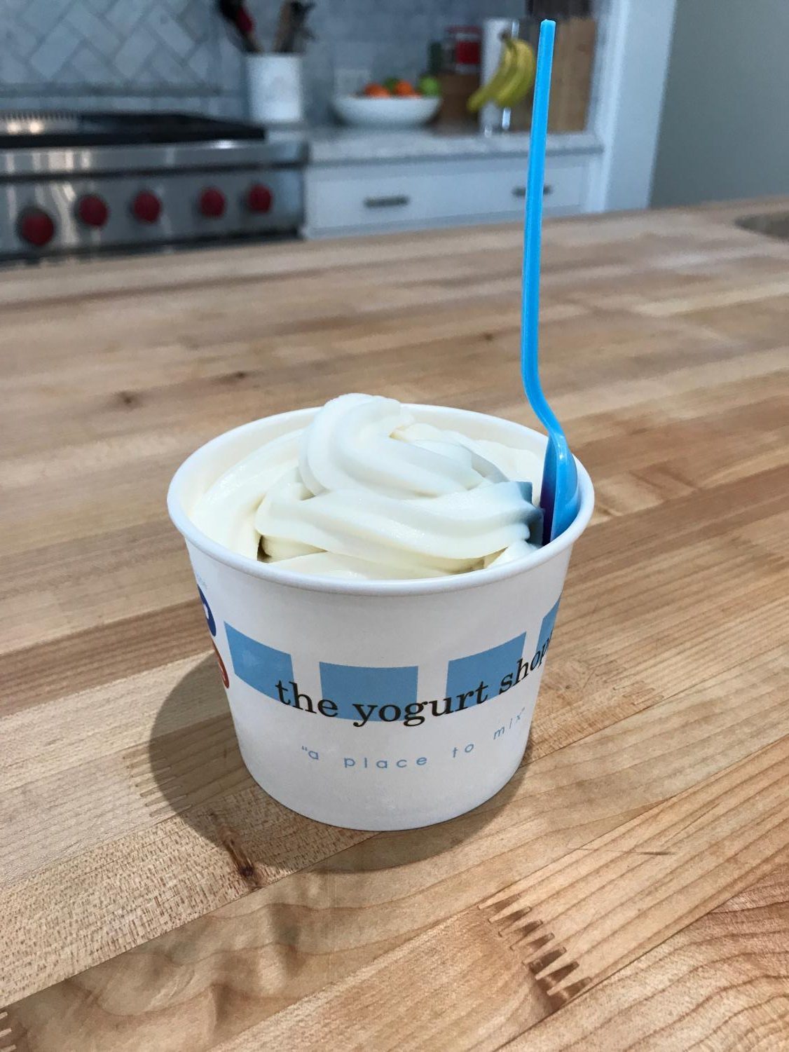 A cup of vanilla frozen yogurt from The Yogurt Shoppe in Brentwood. They offer a 15 percent discount to Archer students and neighborhood merchants.