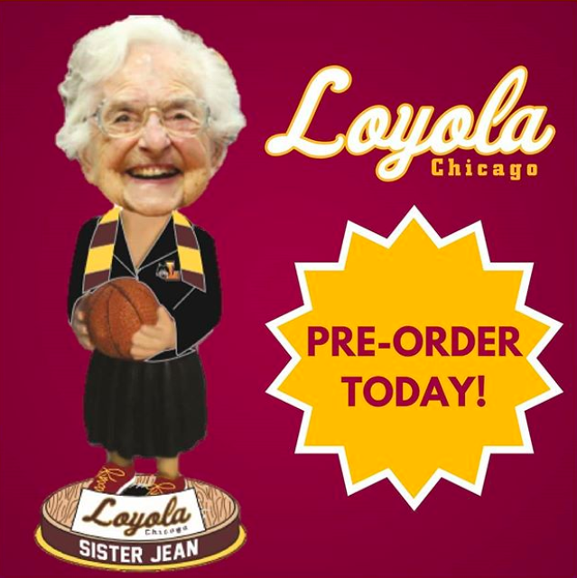 A+promotional+image+for+the+limited+edition+%22Sister+Jean%22+bobblehead.+She+is+the+chaplain+for+Loyola+University+Chicago%27s+men%27s+basketball+team+and+rose+to+fame+earlier+this+year+after+LUC%27s+unprecedented+success.+Image+source%3A+%0A%3Ca+href%3D%22https%3A%2F%2Fwww.instagram.com%2Floyolaramblers%2F%22%3ELoyola+Ramblers%3C%2Fa%3E.