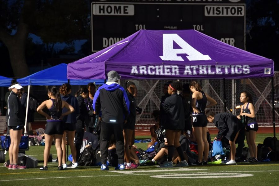 The varsity track team practices at West LA College. They have competed in a series of invitationals throughout California. Image courtesy of Marlee Rice.