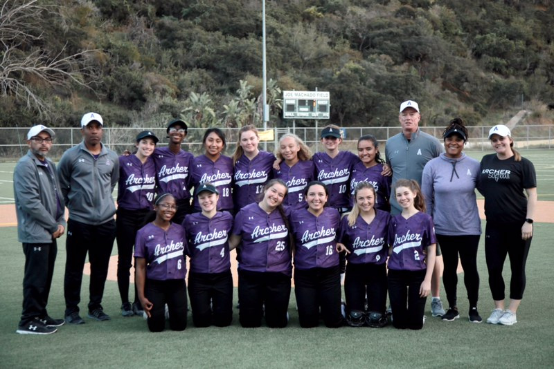 The+Varsity+Softball+team+on+their+trip+to+Catalina+Island.+The+team+travels+to+Catalina+annually+to+play+Avalon+high+school.+