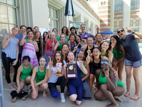 Middle school swim splashes into second place