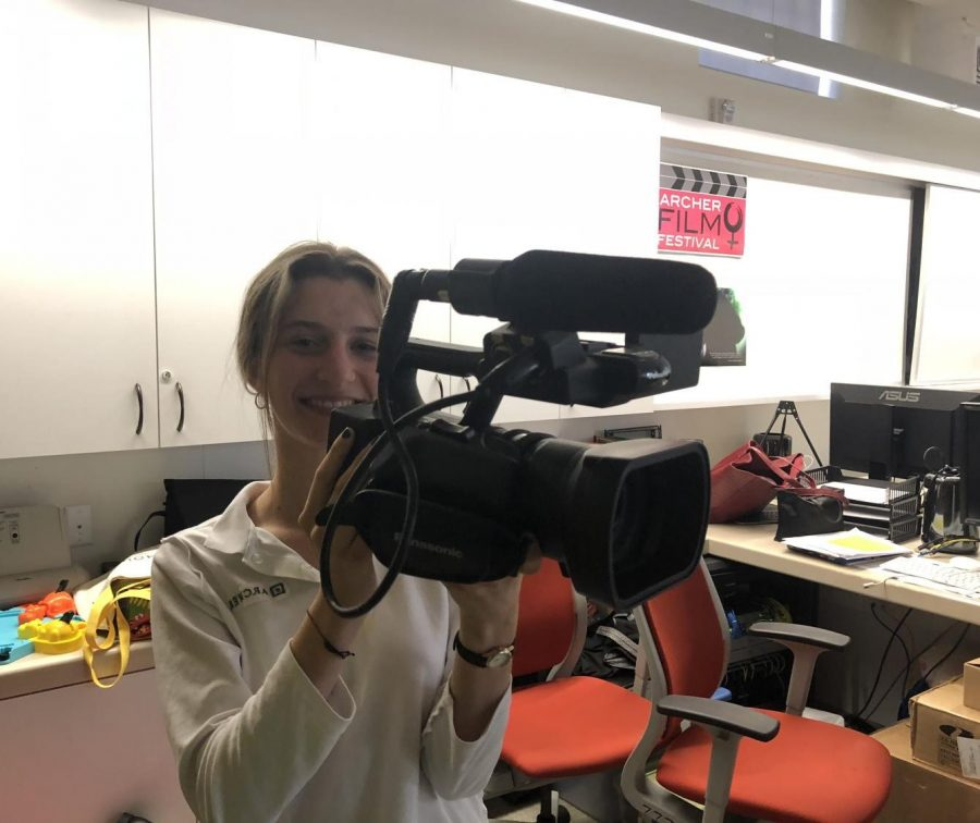 Senior Marlena Lerner created a film that was later shown in Archer's Film Festival.