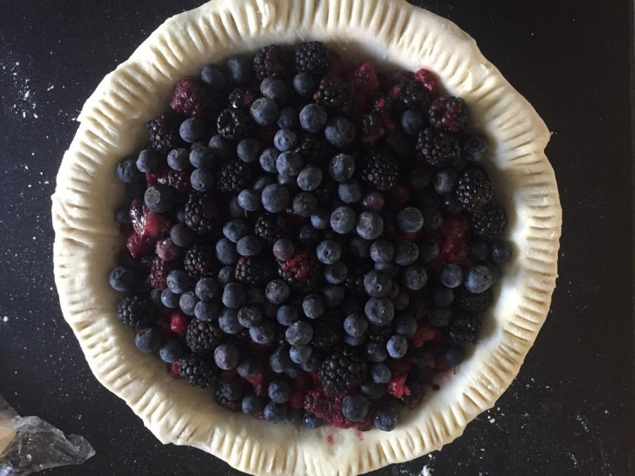 I've been making pies ever since I was a kid, but they've really become part of my Archer identity. Here is the preparation for a pie I made for the Pi Day bake sale.