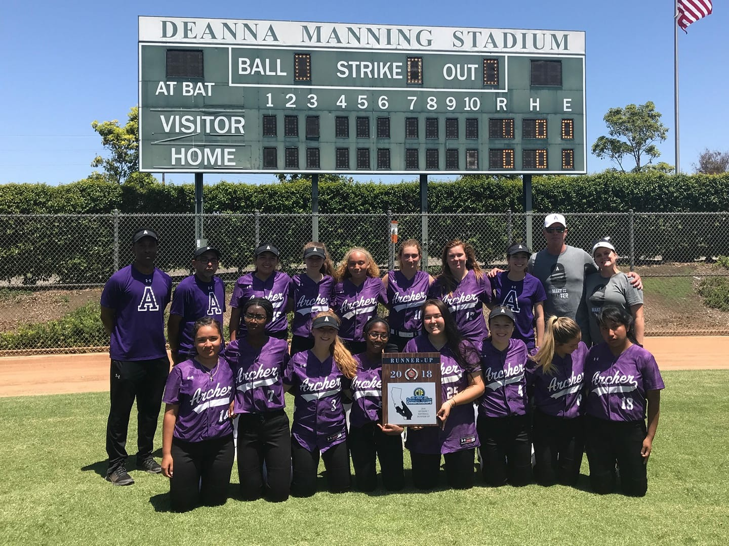 Archer Softball at the Deanna Manning Stadium for the CIF championship game. Archer lost 2-12 to Serra High School.
