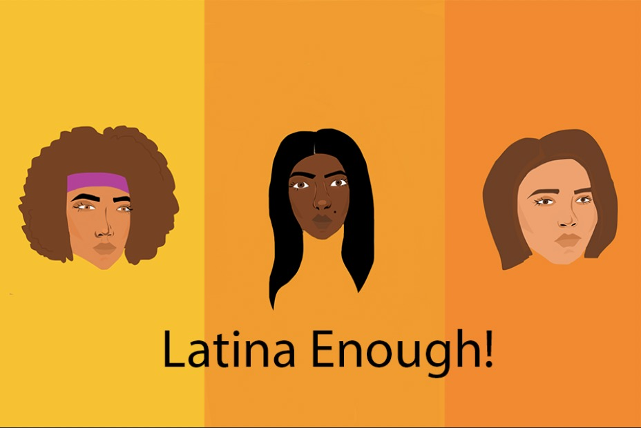 An artistic representation demonstrates how Latina beauty can be diverse. Latinas come from many different ethnic backgrounds and should not be forced into one stereotype. Photo illustration by Leslie Castaneda '20