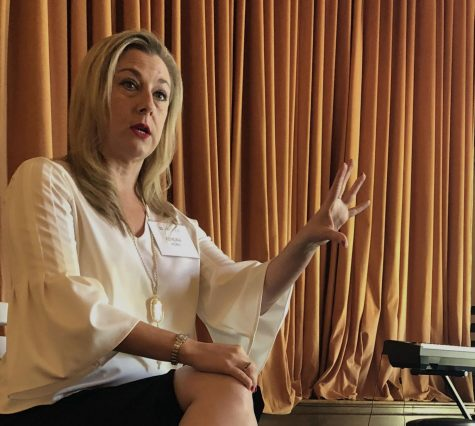 Congressional candidate Kendra Horn speaks about female political empowerment