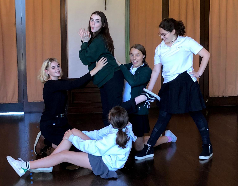 Upper schoolers practice for
