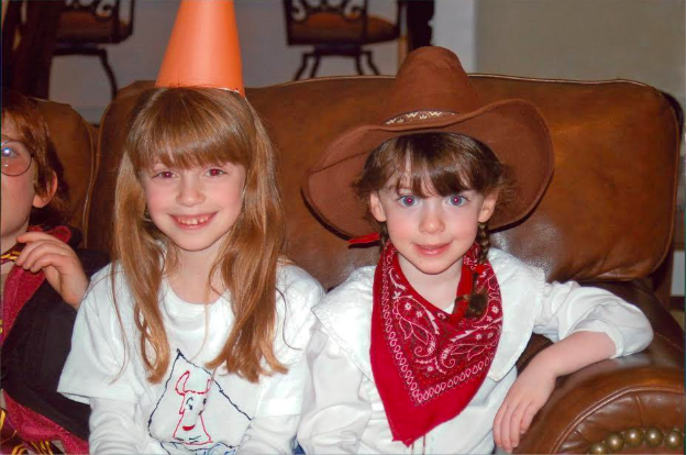 Me+and+my+sister%2C+Maya+Wernick+%2718+posing+on+a+couch+wearing+Halloween+costumes+in+2009.+I+have+self-admittedly+dominated+the+Halloween+candy+trading+game+since+I+was+young.