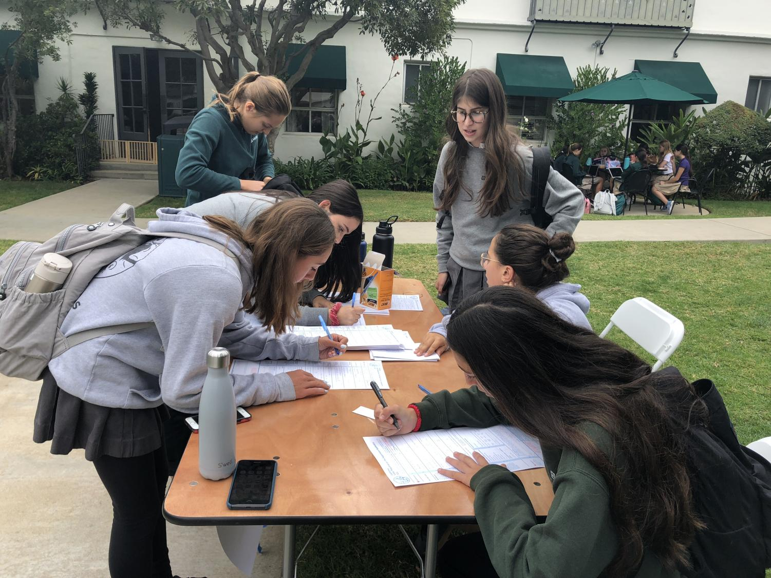 Archer sophomores and juniors pre-register to vote in the 2020 election. The event was run by the Human Rights Watch Student Task Force.