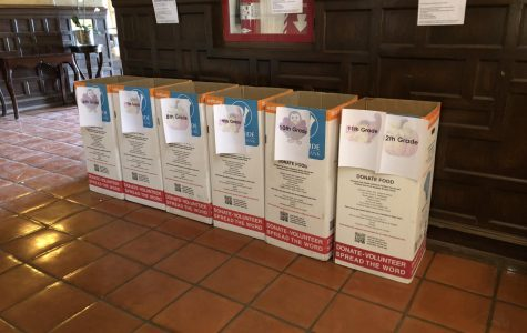 The annual Thanksgiving food drive boxes are located in the front left hallway. Students from every grade can participate  in the drive by bring canned or boxed foods.