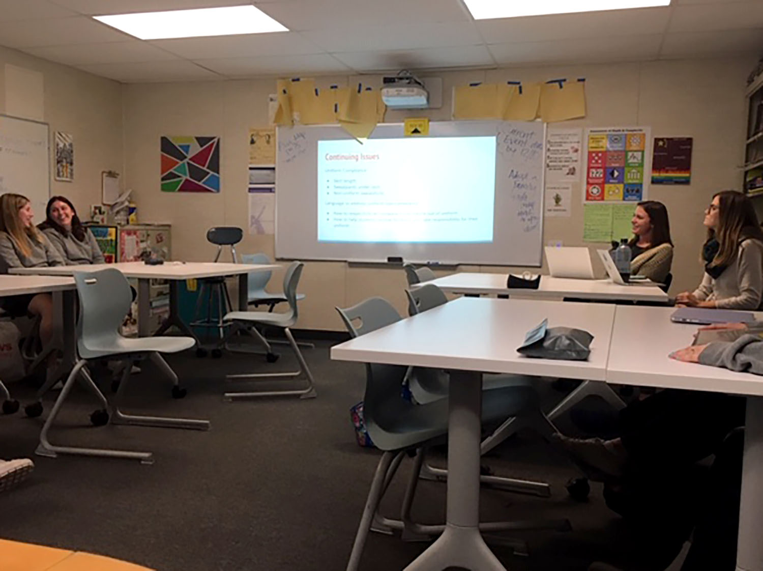 Students from grades nine through 12 meet to discuss the Archer uniform. Organized by Dean of Students Jenn Babin, the first uniform committee meeting of the 2018-2019 school year was on Dec. 3.
