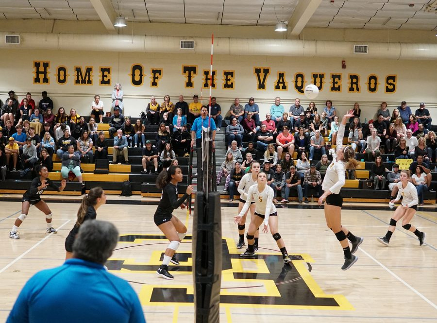 An El Capitan High School player spikes the ball. The Archer varsity volleyball team made it to the final round of CIF-SS Division 6 playoffs this year and the first round of state playoffs without any seniors on the team.