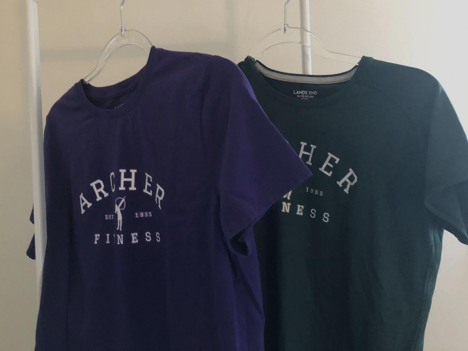 The Fitness and Wellness Department created a new uniform, which comes in purple or green. Department Chair Stephanie Ferri said that the department adapted the uniform based on
