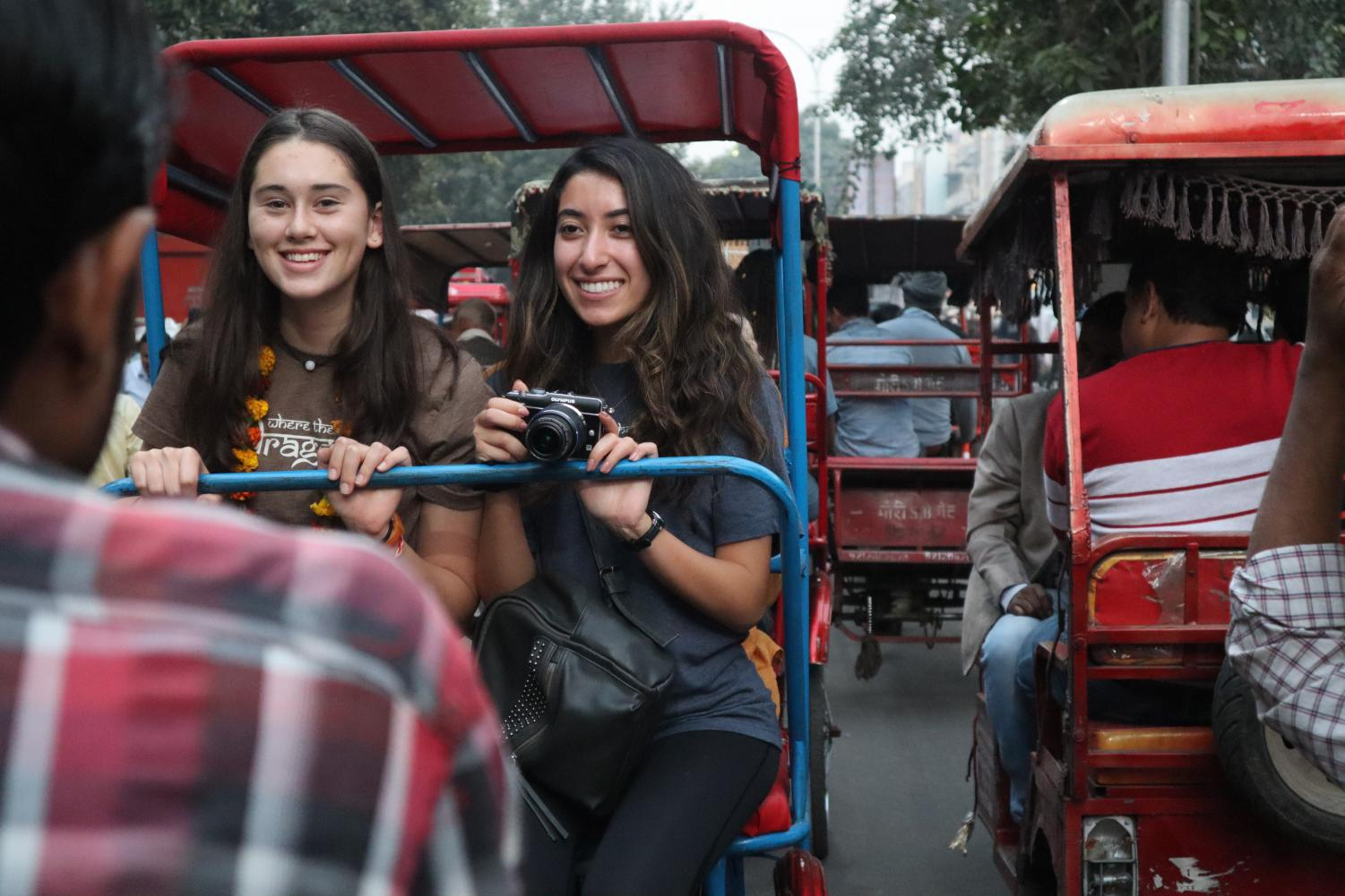 Leila+Mirdamadi+%2720+and+Norah+Adler+%2721+ride+on+a+%27tuk-tuk%27+on+their+first+day+Delhi%2C+India.+This+is+a+common+mode+of+transportation+in+India.+