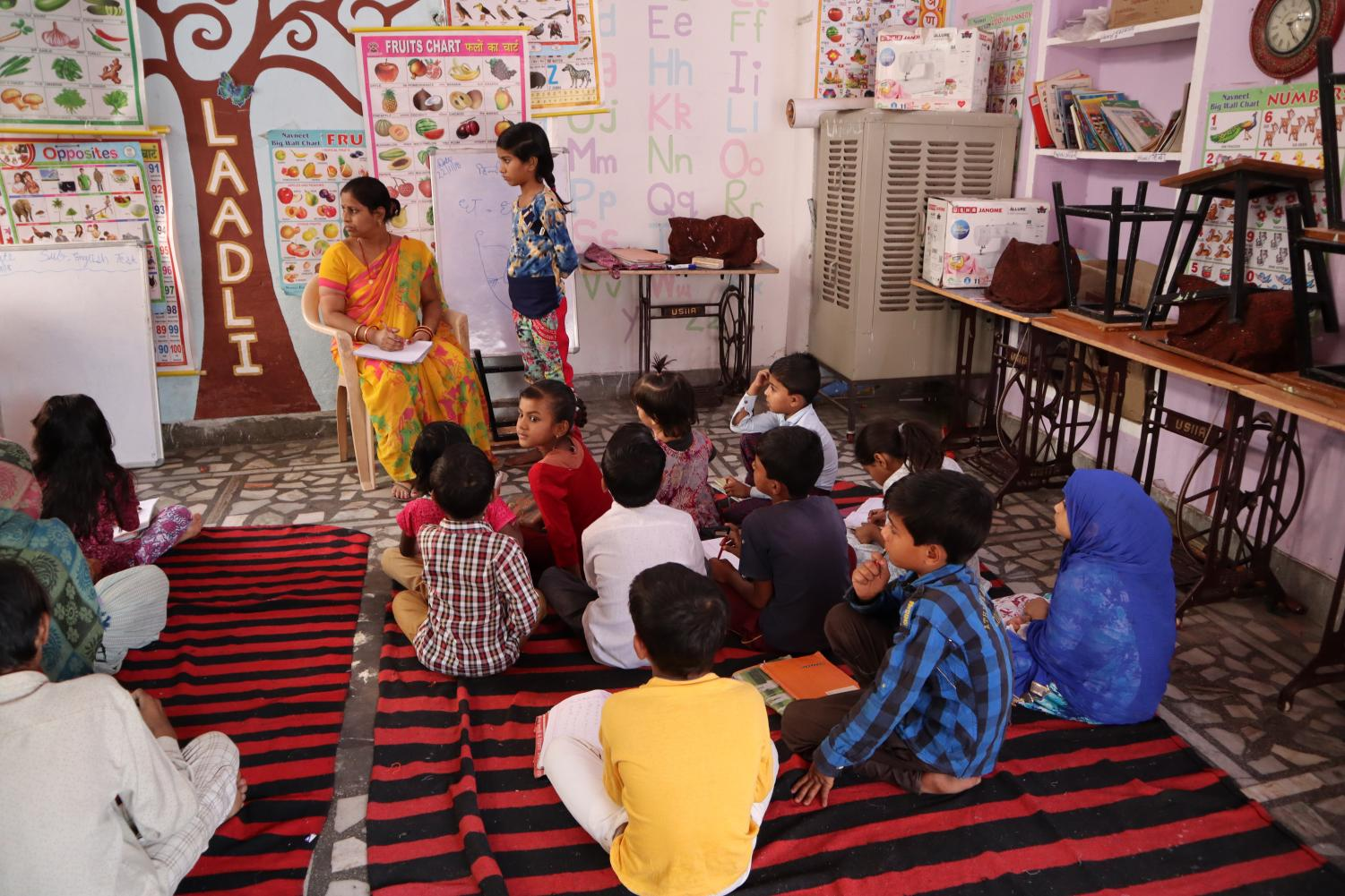 Students+take+lessons+at+the+Sambhali+Trust+to+learn+academics+and+life+skills.+Children+and+women+are+taught+how+to+live+independently+through+classes+at+the+Sambhali+Trust.+
