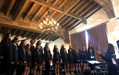 Upper school choir sings