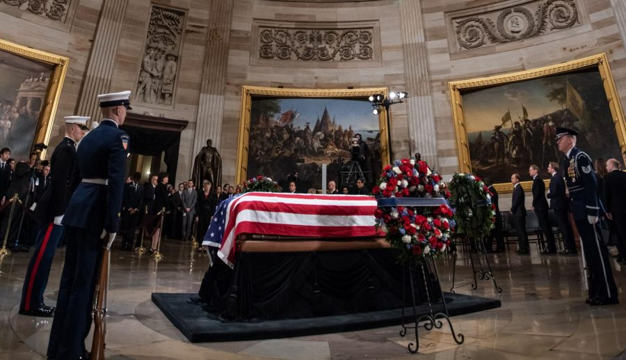 Bush%27s+coffin+lies+in+the+Capitol+rotunda.+During+his+life%2C+he+exemplified+a+bipartisan+spirit+that+we+can+learn+from+at+Archer.++