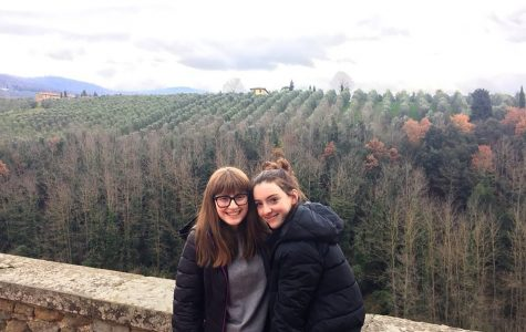 My sister Maya Wernick (left) and I in the Italian countryside. Italy is perfect for picky-eating; all the plain pasta you can get!