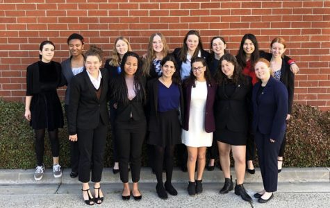 The Speech and Debate team competed in the California Lutheran University invitational on Saturday, Feb. 17, 2019. The team made history, with many students making it to the final rounds of the competition. SPEECH AND DEBATE TEAM. Natalie Grant ('19), Evan Bowman ('22), Isabella Silvers ('20), Jessica Tuchin ('21), Eva Dembo ('21) and Noa Wallock ('22). ROW 2: Lola Wolf ('19), Lena Jones ('20), Grace Carter ('20), Kylie Chryss-Connell ('21), Lily Kerner ('22), Rachael Azrialy ('21), Maddie Fenster ('20), Anna Brodsky ('20).