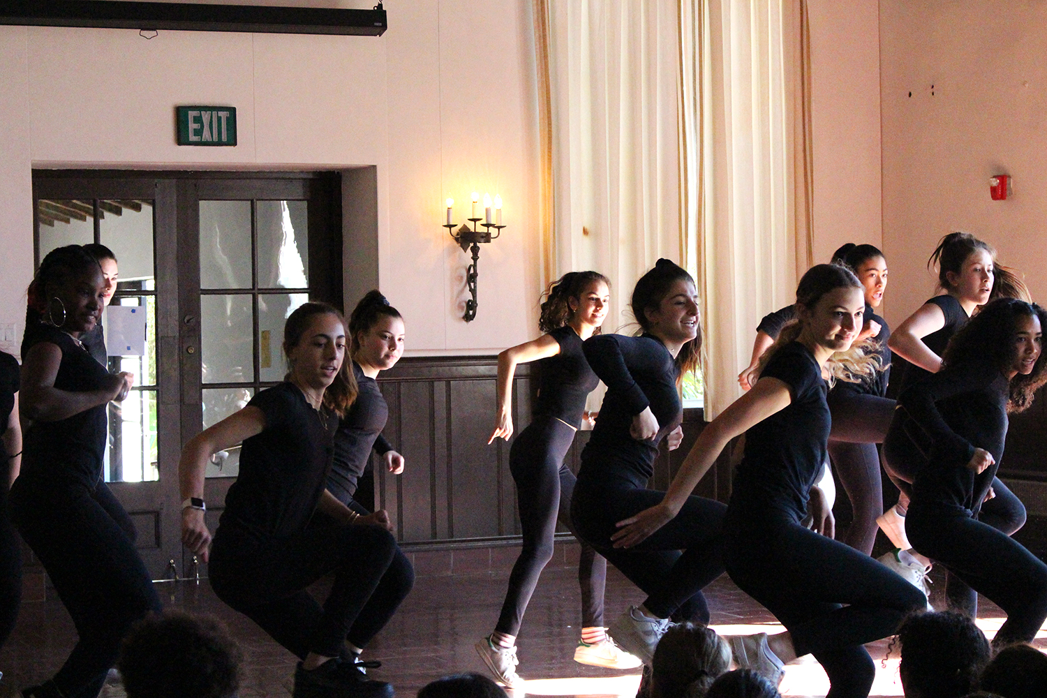 The sophomore dancers perform fellow sophomore Sydney Banks' choreography. The dance was based off of Medusa, a mythical monster.