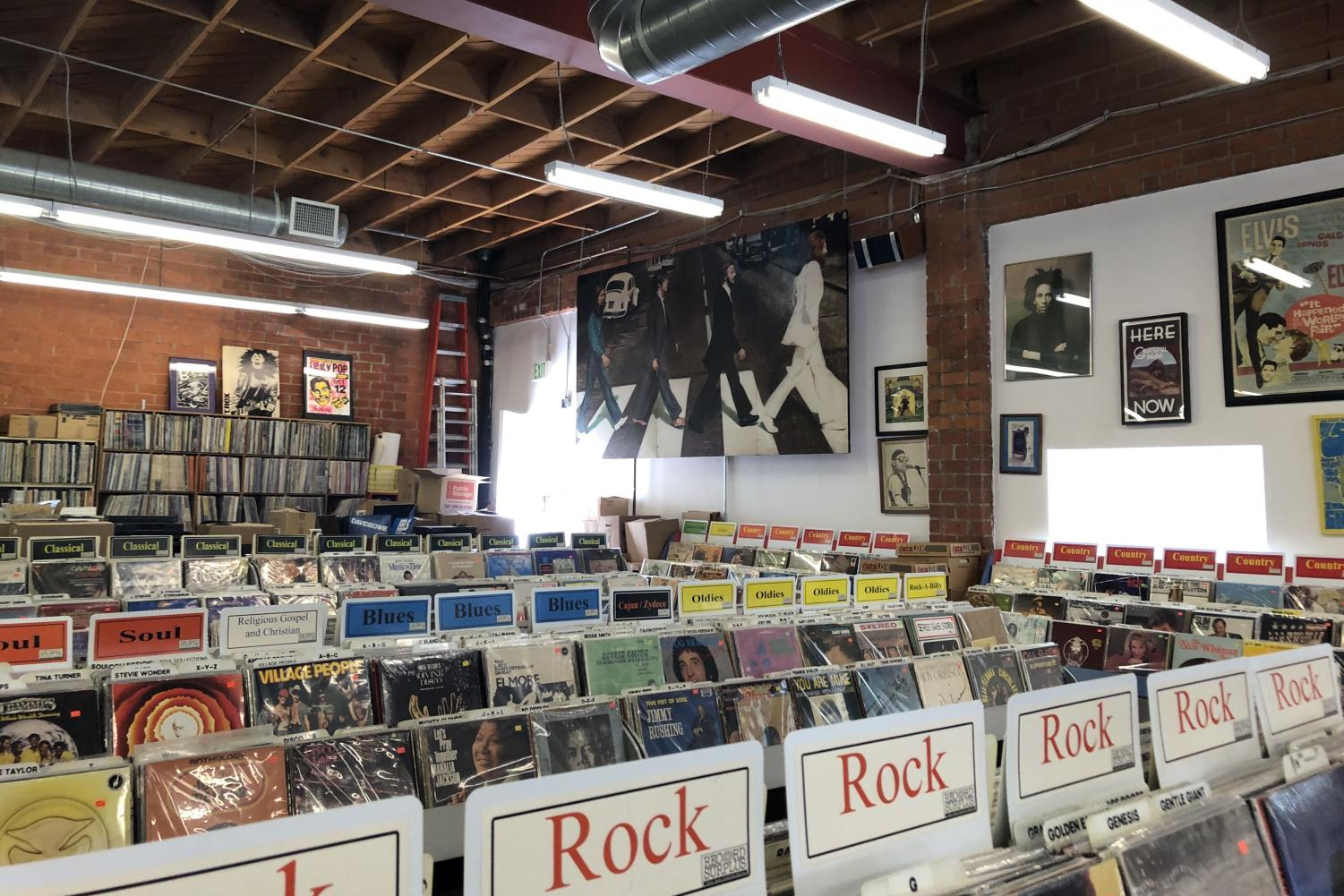The Record Surplus store, located on Santa Monica Boulevard between South Centinela Avenue and South Carmelina Avenue, has been in business since 1985. The store sells vinyl records, CDs and other music-related items.
