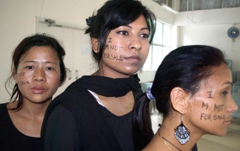 A photo from the Shanti Foundation, an organization put in place to help girls and women who have experienced human trafficking in Nepal. The founder, Shanti, pictured on the right. Shanti was held in a brothel for many years where she contracted HIV. Now she is the leader of the Shanti Foundation and wants to raise awareness of this issue.