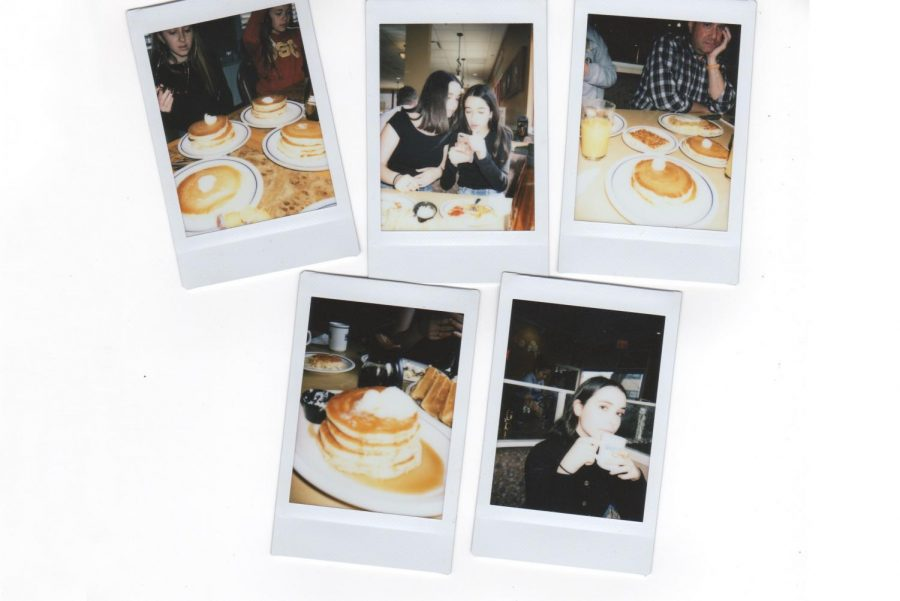 The+assortment+of+polaroid+pictures+were+taken+on+various+trips+to+IHOP.+The+images+capture+moments+with+family%2C+friends+and+breakfast.+