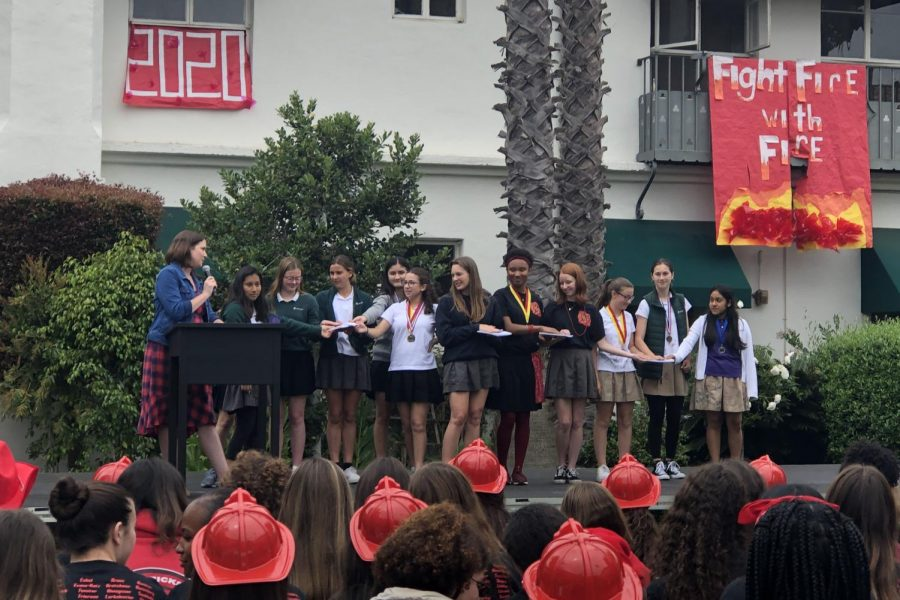 The+2019-2020+Honor+Education+Council+is+sworn+in+by+Dean+of+Students+Jenn+Babin.+Both+Student+Council+and+Honor+Education+Council+take+an+oath+at+the+ceremony.+