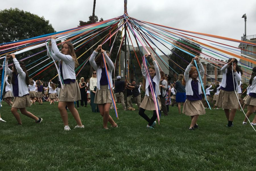 The culminating event of the last day of school is the maypole dance, which is performed by the sixth grade class every year. We started [practicing the maypole dance] last month, Naomi Gee 25 said. Weaving was pretty hard; we didnt get it fully until the last practice.