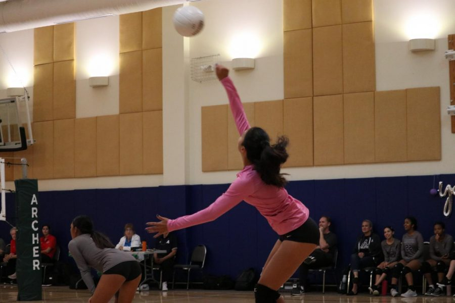 On+Sept.+30%2C+the+junior+varsity+volleyball+team+played+against+Windward+School.+They+won+in+a+close+game+of+2-1.+