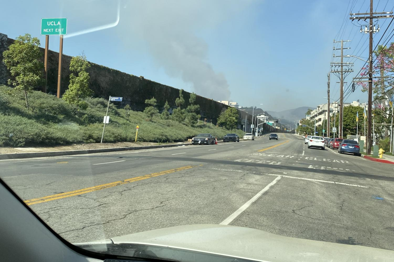 The Getty fire, as seen driving on Sepulveda Boulevard, burned 745 acres. As wildfires become more and more common, it is important that we do not normalize the destruction they bring.