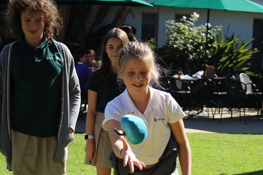 Sixth grader Riley Boccella plays