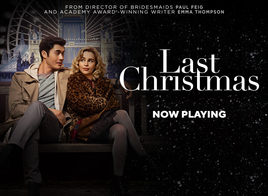 Last Christmas is a holiday rom-com with a twist. The film was released by Universal Pictures and stars Emilia Clark (Game of Thrones) and Henry Golding (Crazy Rich Asians).