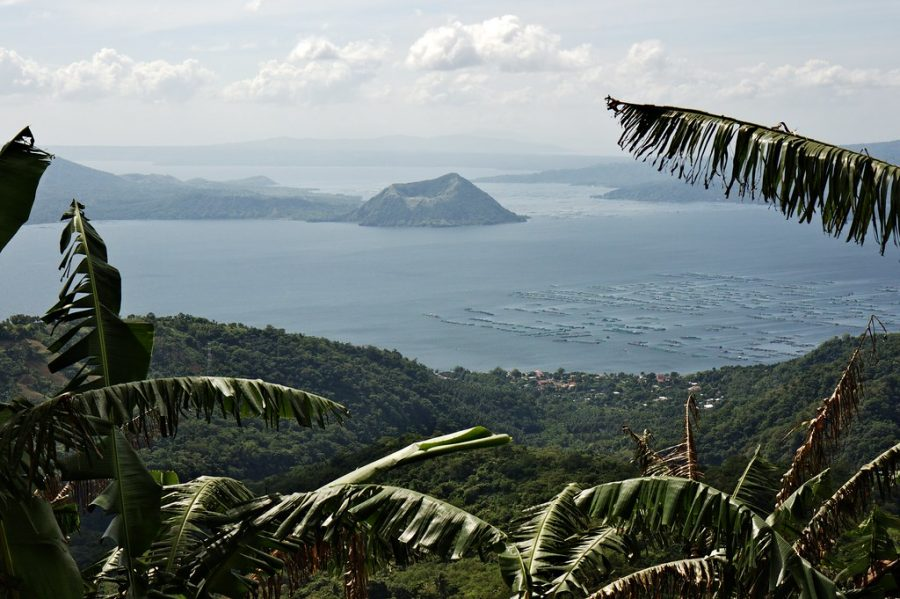 The Taal Volcano on a clear day in Tagaytay City in the Philippines. Seeing photos of devastation after the volcano erupted caused me to question my treatment of my Filipino heritage and why people like me and my family are so invisible in America.
