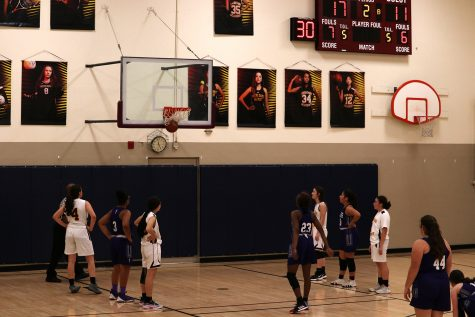 Junior Starrlyn Brown scores a free throw point at the game against Notre Dame Academy on Jan 17.