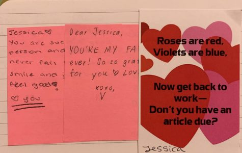 This an example of an activity the Oracle staff were able to take part in on Valentine's day. Oracle students were able to write appreciation notes to their peers and receive a small note from Ms.Taylor with some Oracle humor too.