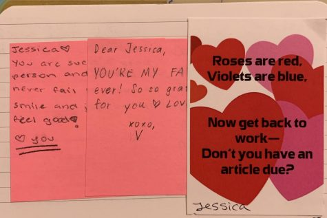 This an example of an activity the Oracle staff were able to take part in on Valentine