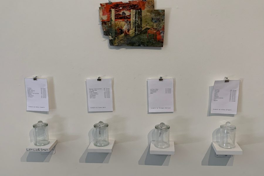 Each painting was accompanied by a few scents that would enhance the viewers experience.