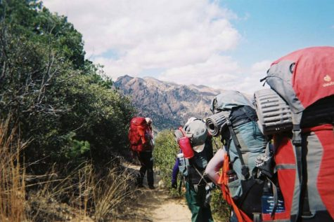 Ninth graders hike through the Arizona wilderness on the 2018 freshman Arrow Week expedition. This year's trip was cancelled due to concerns about the spread of coronavirus.