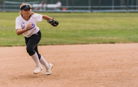 Kayla Gathers ('21) pictured above at the varsity softball 2019 final league game against Rolling Hills Preparatory School. The Archer Panthers beat the Rolling Hills Huskies, securing a first place finish in the league.