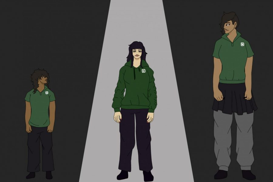 This illustration depicts the effects and various stages of heightism that members of the Archer community and beyond can experience. Additionally, this image demonstrates the greater effect that heightism has within our society, considering it doesn't only affect one group or type of people. This illustration was created by graphic design artist and sophomore Molly Solowitz.
