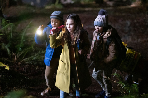 "The Apple TV series ""Home Before Dark"" was released on April 3. This promotional photo shows Hilde (Brooklynn Prince) and her friends investigating a location."